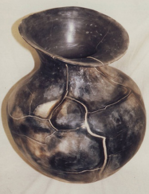Coiled-Smoke-fired-Earth-Vessel