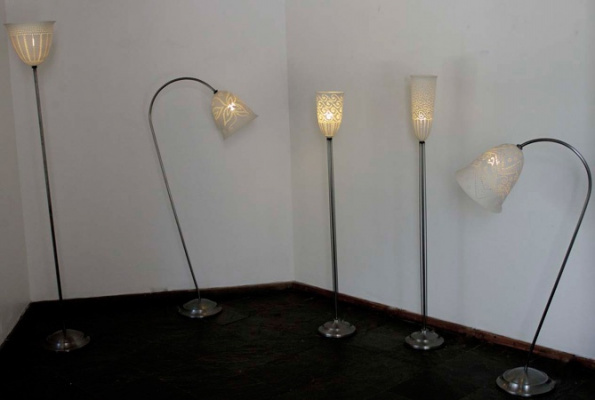 Standing-Lamps-with-Pierced-Porcelain-Shades